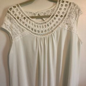 Women's Maurice's plus size 1 ivory top
